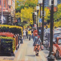 """""""Heading to the Park"""" Sean Cassidy, Oil, $750"""